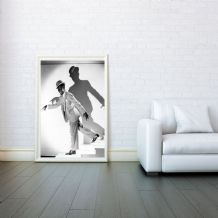 "Bill ""Bojangles"" Robinson, Decorative Arts, Tap Dancer, Prints & Posters, Wall Art Print, Poster Any Size - Black and White Poster"